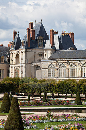 Medieval royal castle near Paris
