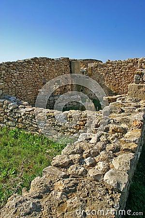 Medieval ruins in Kaukana - Sicily