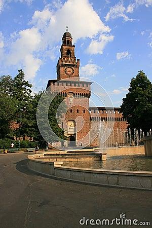 Medieval sforza castel, milan