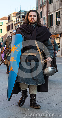 Medieval Soldier Editorial Stock Photo