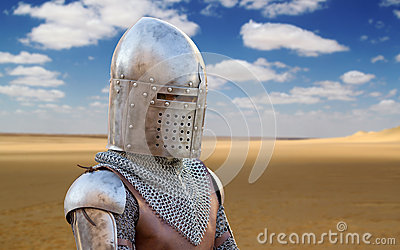 Medieval Soldier in the Desert
