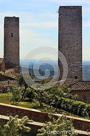 Medieval Stone Towers San Gimignano Tuscany Italy