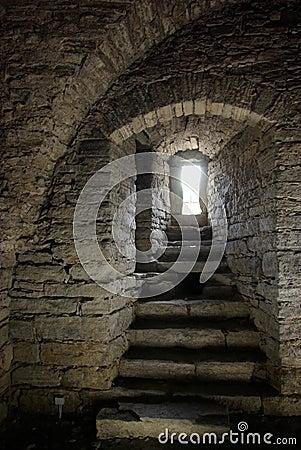 Medieval stone window