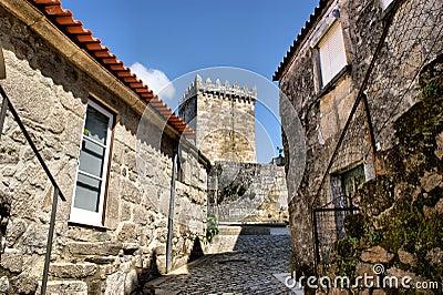 Medieval street of Melgaco, Portugal