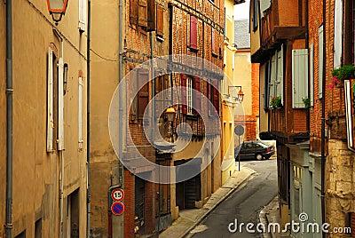 Medieval street in Albi France