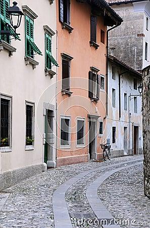 Medieval Street in Cividale del Friuli