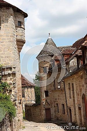 Medieval street Curemonte