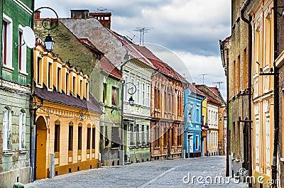 Medieval street in brasov romania stock photography image 29787892 - Saxon style houses in transylvania ...