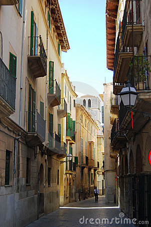 Free Medieval Street Of Palma Royalty Free Stock Photo - 4996075