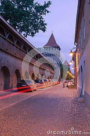 Medieval Street in Sibiu