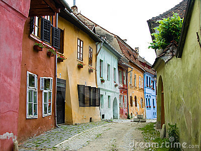 Medieval street Sighisoara