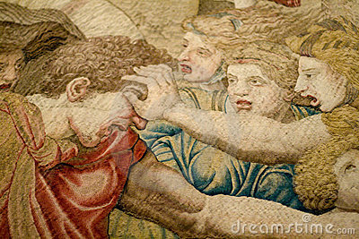 Medieval tapestry Editorial Stock Image