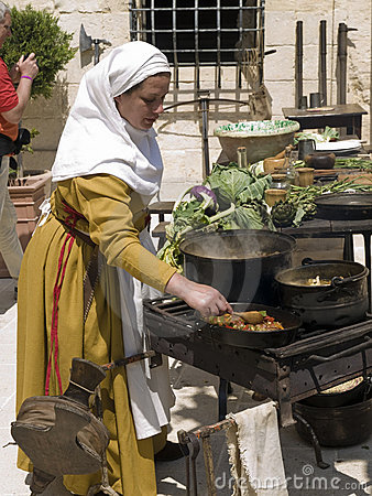 Medieval Tavern Cooking Editorial Image