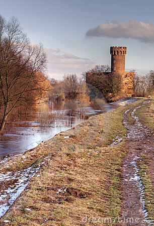 Medieval Teutonic castle in Poland