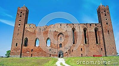 Medieval Teutonic castle in Radzyn Chelminski