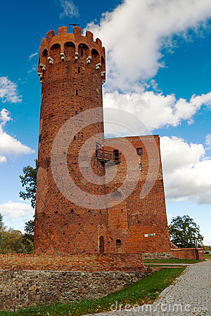 Medieval Teutonic castle in Swiecie, Poland