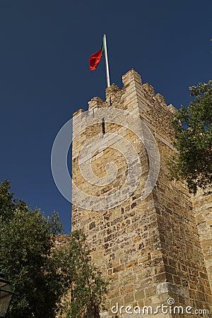 Medieval tower, Lisbon, Portugal