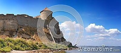 Medieval tower of citadel Belgorod Cetatea Alba
