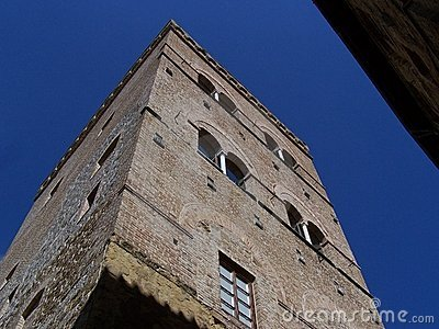 A medieval tower in San Gimignano
