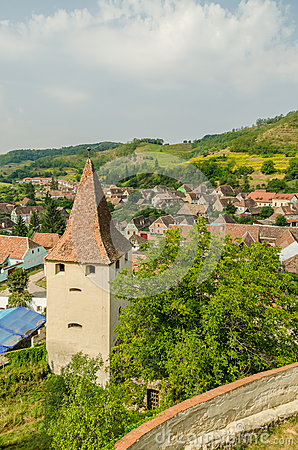 Medieval Town Aerial View