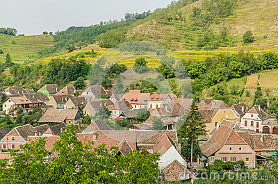 Medieval Town Aerial View