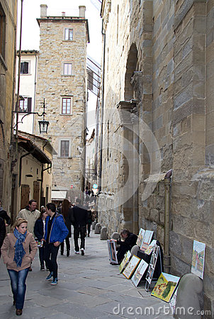 The medieval town of Arezzo, Italy Editorial Image