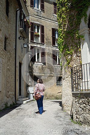 The medieval town of Arpino, Italy Editorial Stock Photo