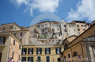 The medieval town of Arpino, Italy Editorial Image