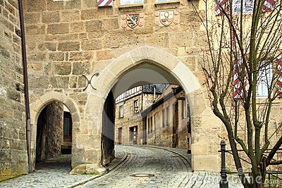 Medieval town gate