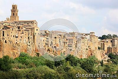 Medieval town of Pitigliano in Italian Tuscany