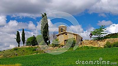 The medieval village Piedramorrera in Aragon, stock video footage