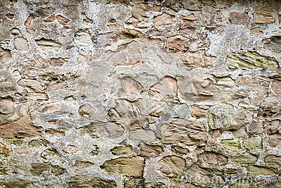 Medieval wall made ​​from stones