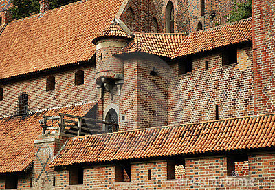 Medieval wall with turret