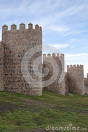 Medieval walls, Avila, Spain