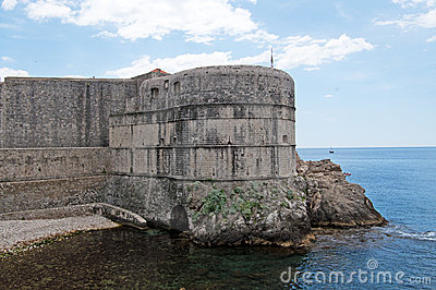 Medieval walls of Dubrovnik in Croatia