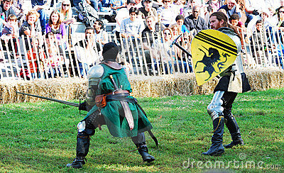 Medieval Warrior Fight Editorial Stock Photo