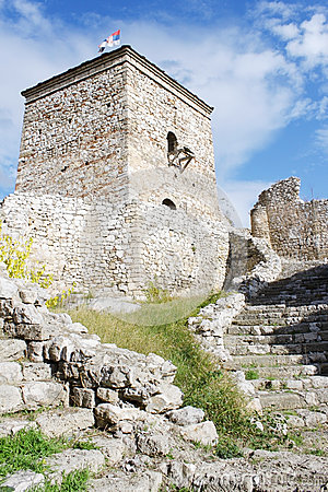 Free Medieval Watchtower And Stairs Royalty Free Stock Images - 58067989