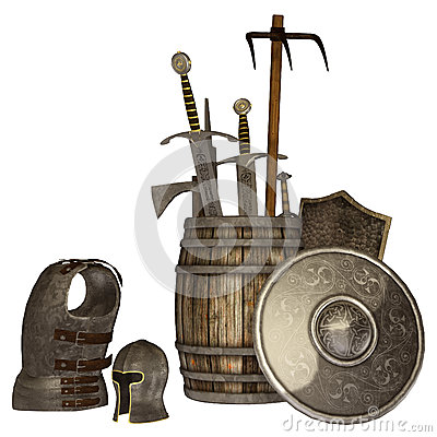 Medieval weapons and armour