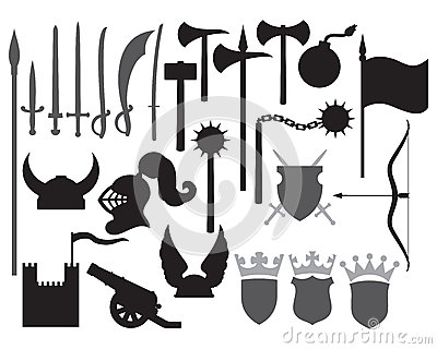 Medieval weapons icons