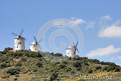 Medieval windmills in Spain