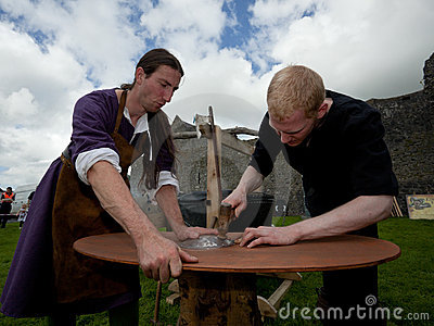 Medieval workshop Editorial Stock Photo