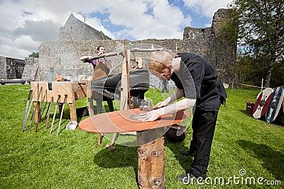 Medieval workshop Editorial Photo
