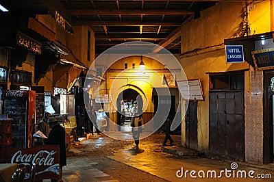 Medina De Fes La Nuit, Maroc Image éditorial - Image: 17948430