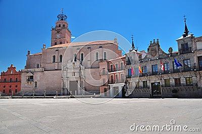Medina del Campo, central square. Spain