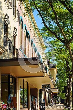 Medina storefronts Editorial Stock Image