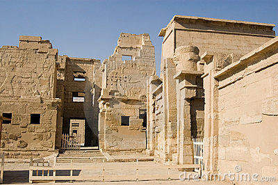 Medinet Habu Temple entrance