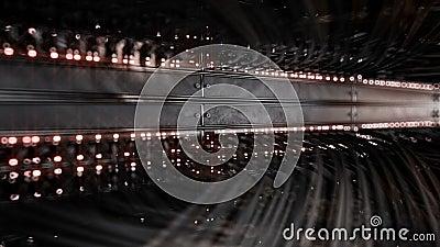 Medios convertidores de la red e interruptores completamente cargados de Ethernet representación de 4k 3d libre illustration