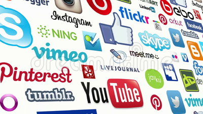 Medios lazo inconsútil social