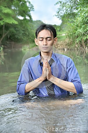 Meditación del hombre de negocios