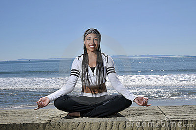 Meditate by the beach